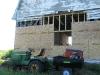 New sheathing E end of Crib
