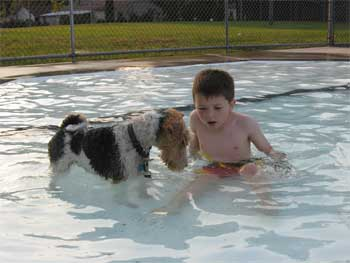 Mason Ozzie Swimming